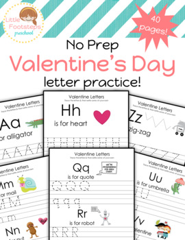 Valentine's Day Writing Worksheets-Letter Practice