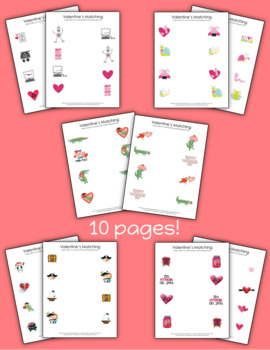 Valentine's Day Writing Worksheets-Matching