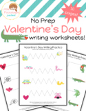 Valentine's Day Writing Worksheets-Tracing