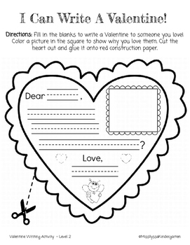Valentine's Day Writing and Beginning Sounds Worksheets