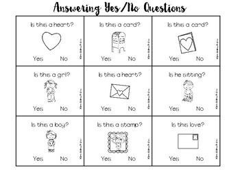 Bilingual Valentine's Day: Yes/No Questions -- Sample of Rec/Exp Language Pack