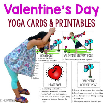 Valentine's Day Yoga Cards and Printables