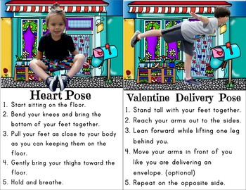 Valentine's Day Kids Yoga Cards and Printables