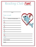 Valentine's Day and Friendship Reading Log and Certificate Set