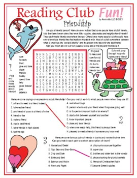 Valentine's Day and Friendship Word Search Puzzle