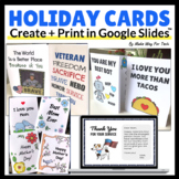 Mother's Day Card Templates | Valentine's Day Cards for Google Classroom™