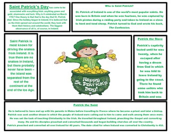 Valentine's Day and St. Patrick's Day Articles