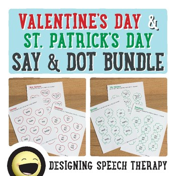 Valentine's Day and St. Patrick's Day Speech & Language Bundle
