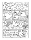 Valentine's Day bookmarks to color