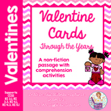 Valentine's Day non fiction passage comprehension activities RI3.1 RI3.3 RI4.1