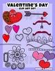 Valentine's Day clip art and design elements set