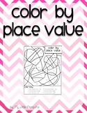 Valentine's Day color by Place Value Ones, Tens, Hundreds