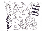 Valentine's Day coloring page | Love Bug