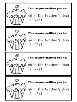 VALENTINE'S DAY COUPON BOOK (FOR TEACHERS TO GIVE STUDENTS)