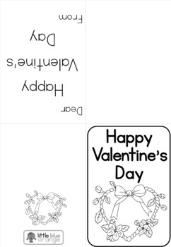 Valentine's Day craft color-your-own greeting cards