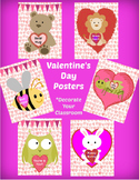 Valentine's Day decoration, 6 Posters  - decorate your cla