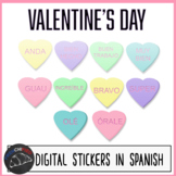 Valentine's Day digital stickers - Spanish