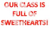 Valentine's Day door/bulletin sign