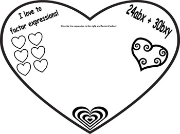 Valentine's Day expression factoring