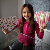Valentine's Day fine motor skills heart weaves FREE coloring pages