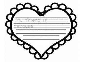 Valentine's Day friend writing