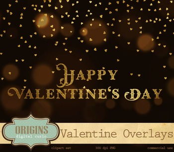 Valentine's Day gold foil word art photo photography typography phrases overlays