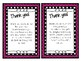 Valentine's Day homework passes & thank you notes