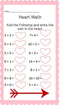 Valentine's Day math and language Packege!