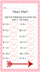 Valentine's Day math and language Packege!