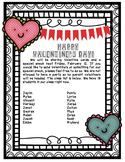 Valentine's Day parent letter & card list