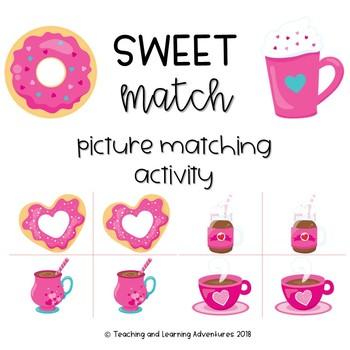 Valentine's Day picture match activity