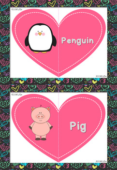 Valentine's Day playing with Animal Flash Cards
