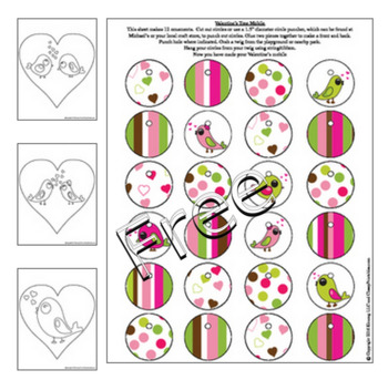 Valentine's Day 6 designs boxed cards and birdhouse box FREE coloring pages