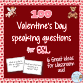 Valentine's Day speaking prompts for ESL