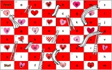 Valentine's Day themed Dolch Sight Word Board Game Hearts Chutes & Ladders