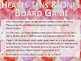 Valentine's Day themed Hearts Tens & Ones Board Game