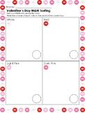 Valentine's Day themed M&M Math