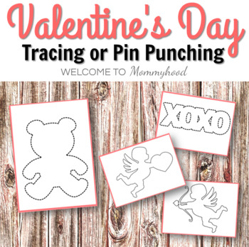 Valentine's Day tracing or push pin cards