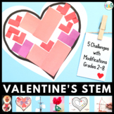 Valentine's Day 5-in-1 STEM Challenge Bundle