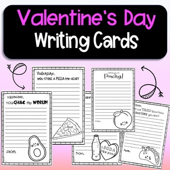 Valentine's Days Cute Funny and  Punny writing cards!