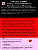 Valentine Science Density Lab withClaim, Evidence, Reasoning and Rebuttal