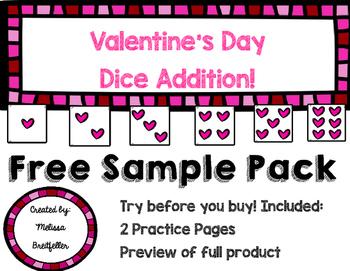 Valentine's Dice Addition Freebie