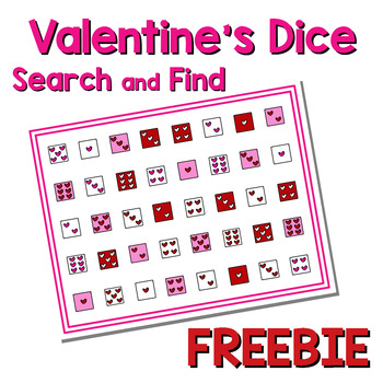 Valentine's Dice Search & Find Freebie