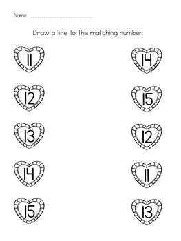 Valentine's Differentiated Math Worksheets