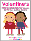 Valentine's Differentiated Math Worksheets