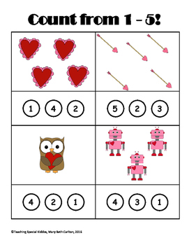 Valentine's Early Learner Worksheets Pack