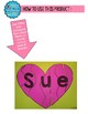 Valentine Heart Name Puzzle-Name Building Practice Literacy Center; Editable PDF