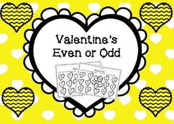 Valentine's Even or Odd Worksheets