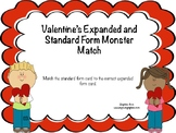 Valentine's Expanded and Standard Form Monster Match