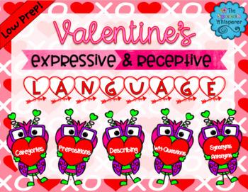 Valentine's Expressive & Receptive Language Activities